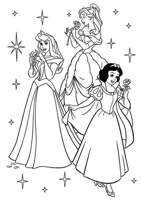 Dibujos para Colorear de Princesa