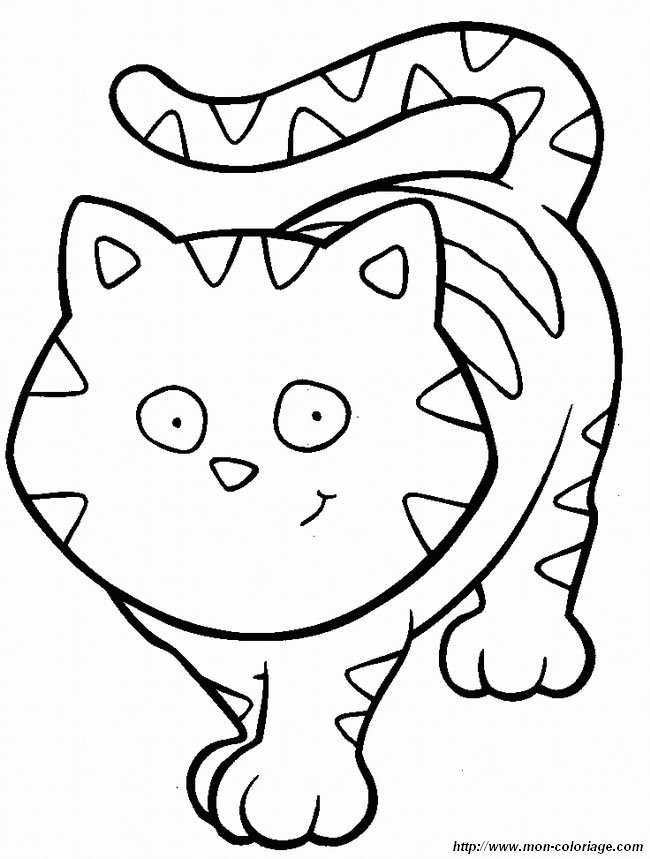 Colorear Gatos, dibujo colorear gato