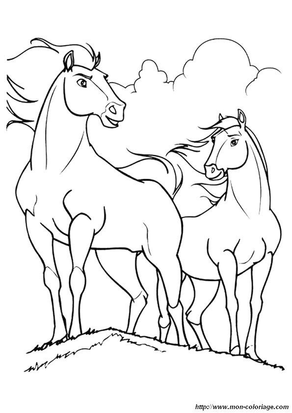 Colorear Caballo Dibujo Coloriage Spirit 3211