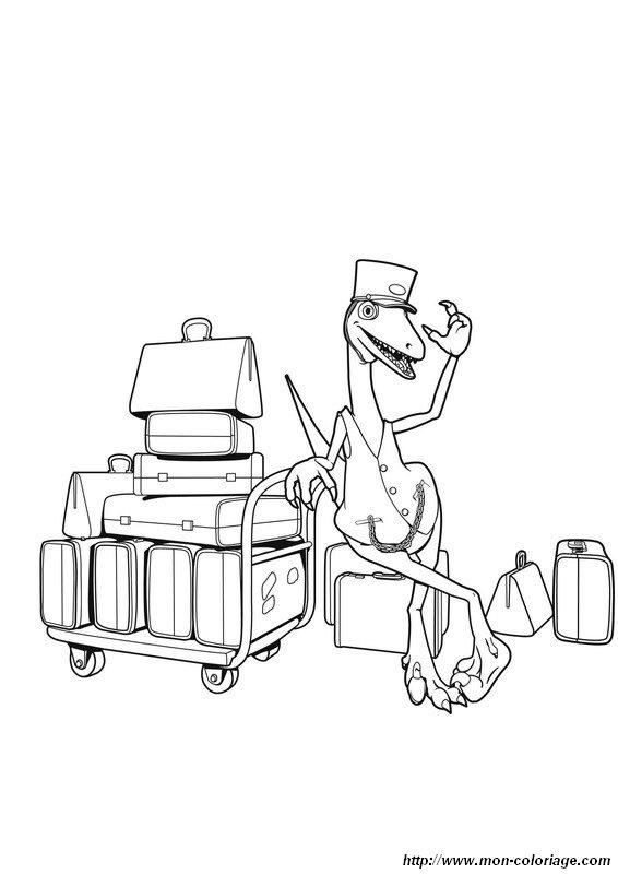 Colorear Dino tren dibujo dino tren12