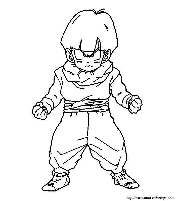 Colorear dragon ball z dibujo 021 - Dessin sangohan ...