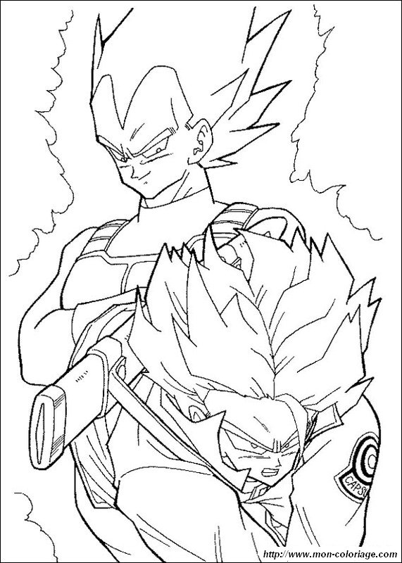 Colorear Dragon Ball Z dibujo