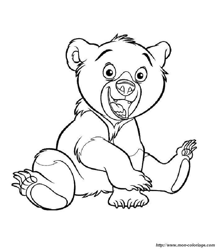 Colorear Hermano oso, dibujo 012