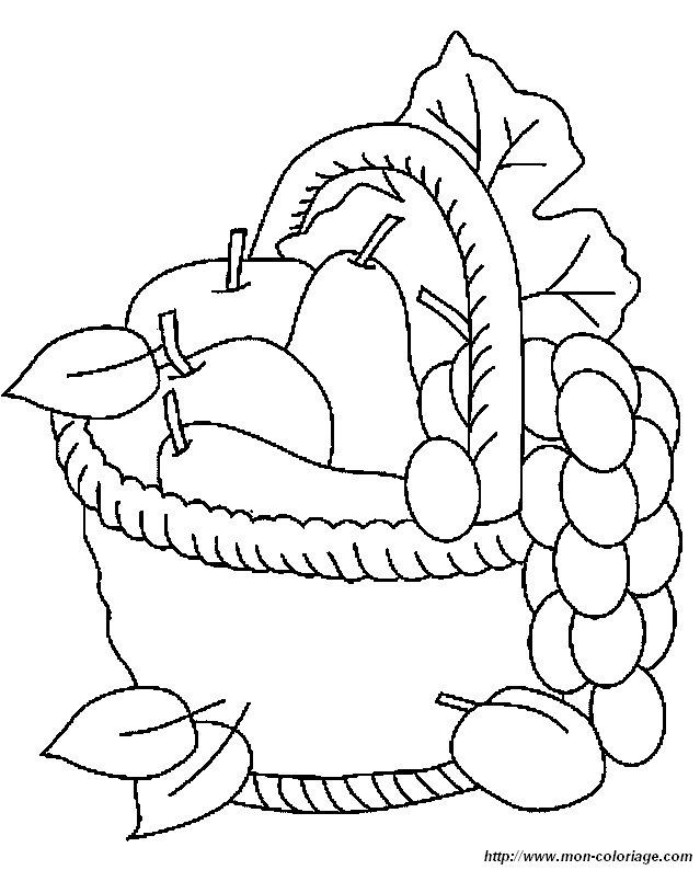 Colorear Frutas Dibujo Fruta1