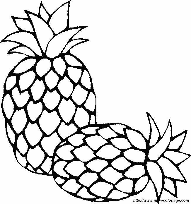 Colorear Frutas Dibujo Pina