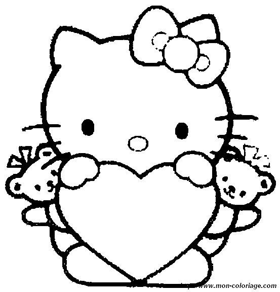 Colorear Hello Kitty, dibujo imagenes hello kitty