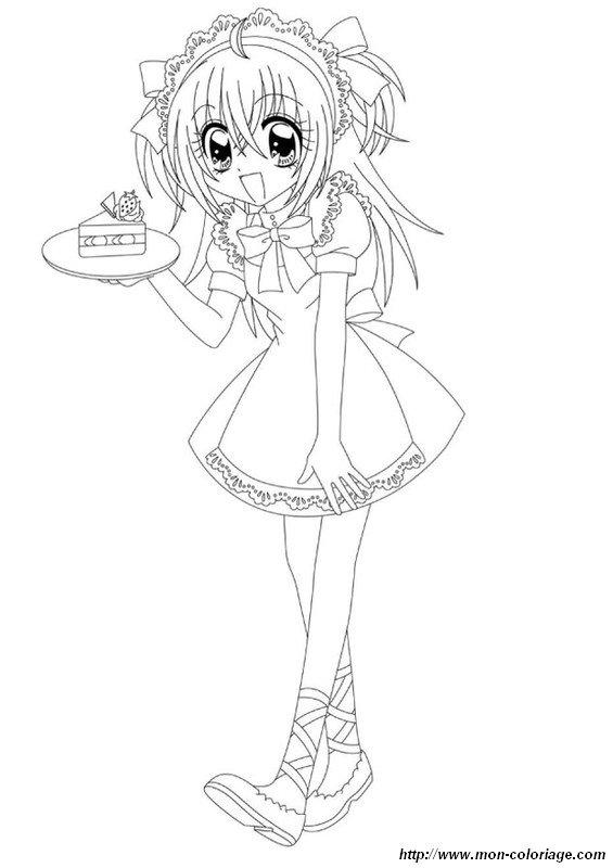 Colorear Manga, dibujo kilari muy linda