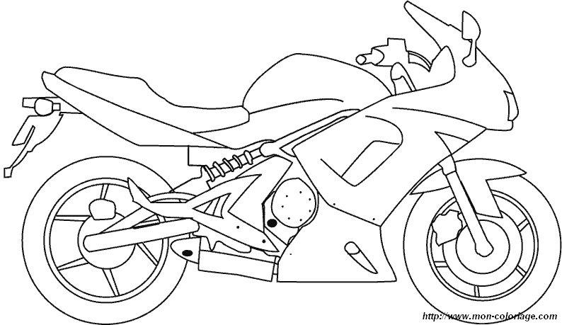Colorear Dibujos de motos, dibujo moto10