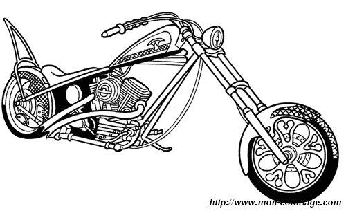 colorear dibujos de motos  dibujo moto 06