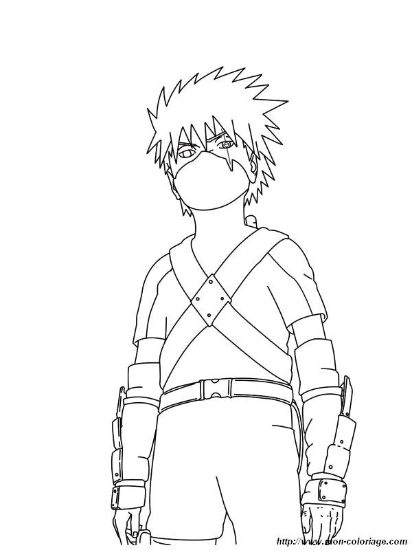 Colorear Naruto, dibujo naruto 7