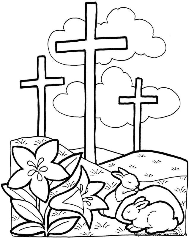 Colorear La Pascua Dibujo El Simbolo De La Resurreccion