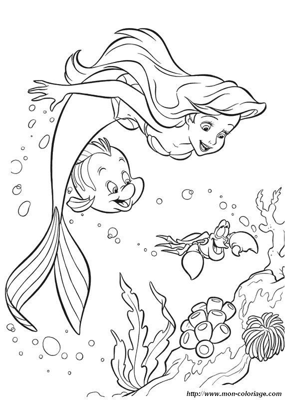 Colorear La Sirenita, dibujo el reino de atlantida bajo el mar