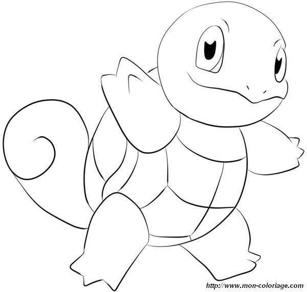 Colorear Pok 233 Mon Dibujo Tortuga Squirtle