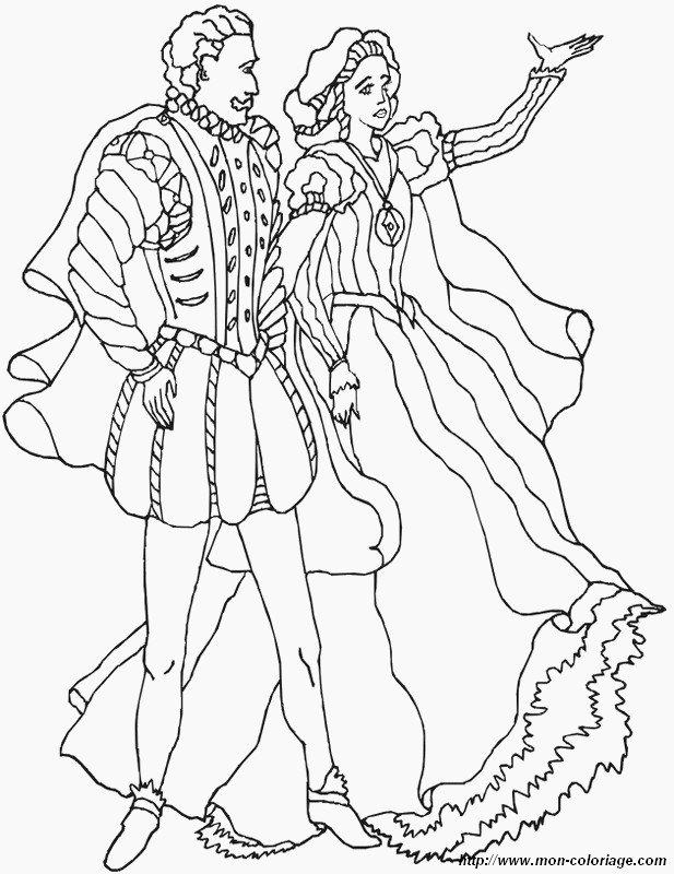 Colorear Princesa Y Príncipe Dibujo Rey Y Reina