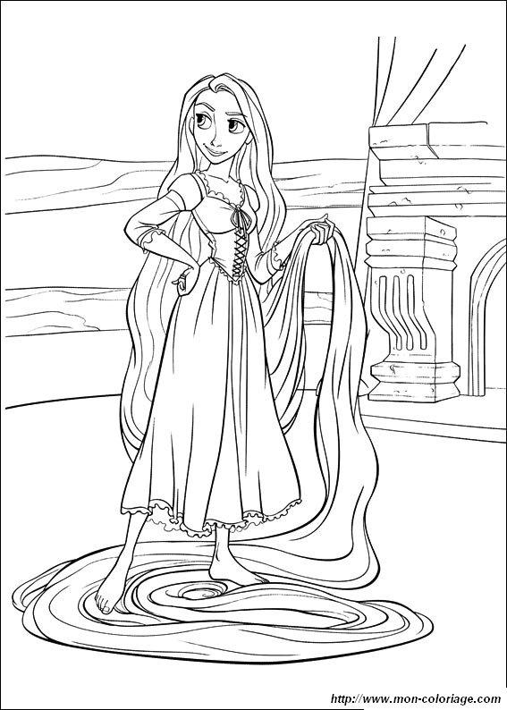 Colorear Rapunzel Dibujo Rapunzel Para Colorear