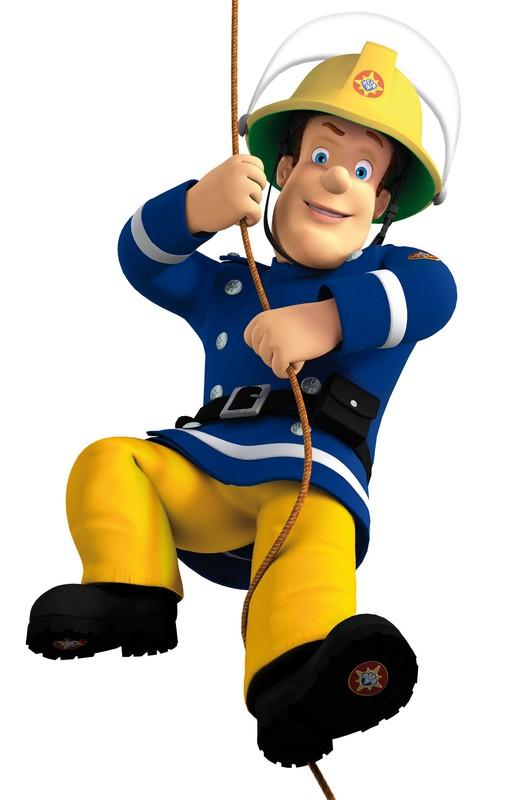 Colorear Sam el bombero dibujo sam bombero