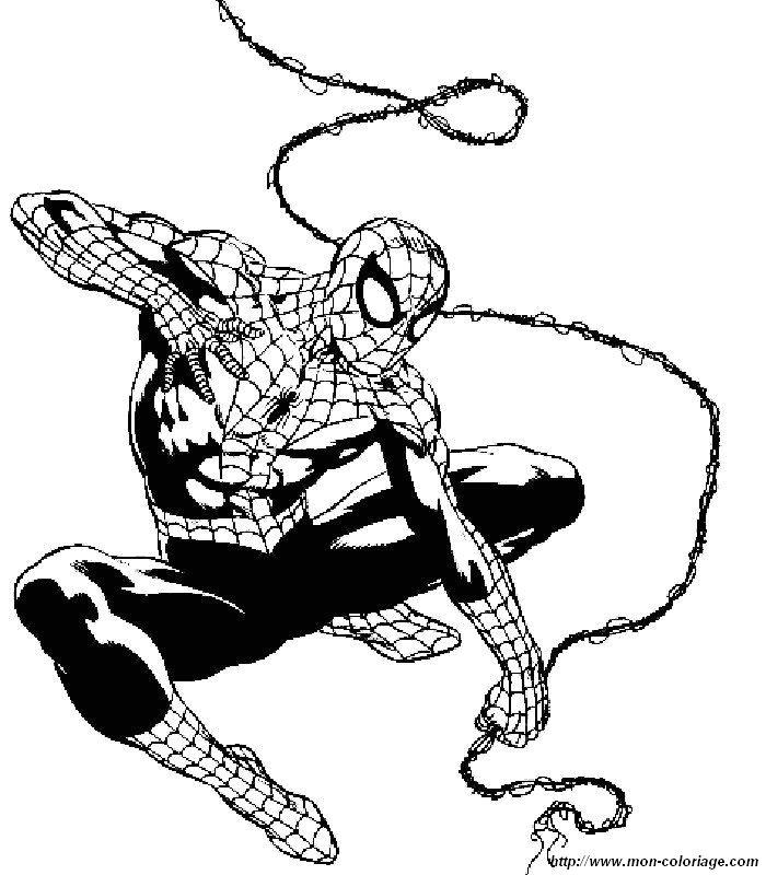 Colorear Spiderman, dibujo spiderman 4