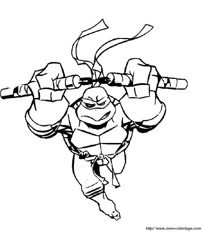 Colorear Tortugas Ninja, dibujo colorear tortugas ninja