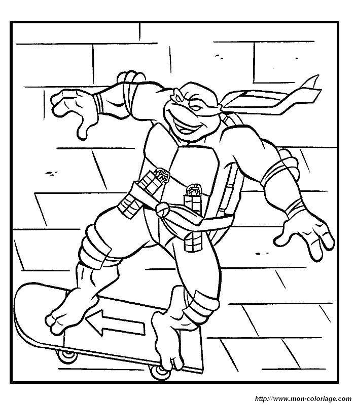 Colorear Tortugas Ninja, dibujo imagene tortugas ninja