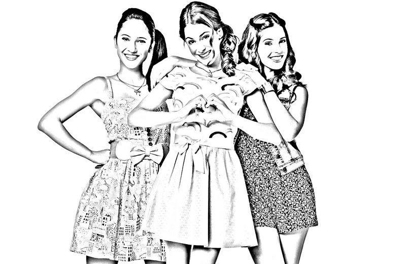 Dibujos Sin Colorear Dibujos De Violetta Disney Para: Colorear Violetta, Dibujo Con Francesca Y Camila
